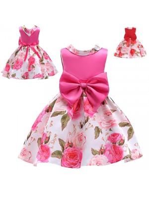Vestito Bambina Abito Estate Rose DG0048B