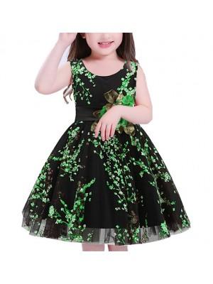 Vestito Bambina Abito Cerimonia Fiori DG0049