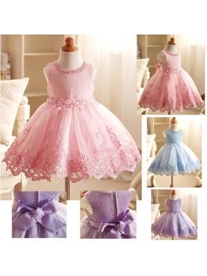Vestito Bambina Abito Cerimonia Compleanno DG0053