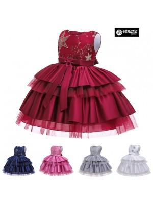 Vestito Bambina Abito Cerimonia Feste Natale DG0057