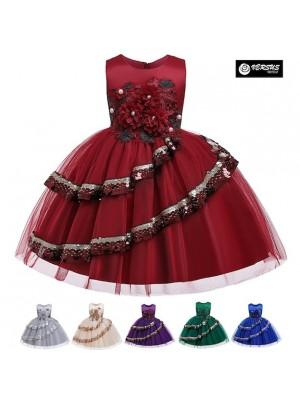 Vestito Bambina Abito Cerimonia Feste Natale DG0058