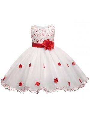 Vestito Bambina Abito Cerimonia Compleanno DGZF003B