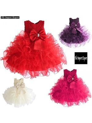 Vestito Bambina Abito Festa Principessa Cerimonia DGZF021
