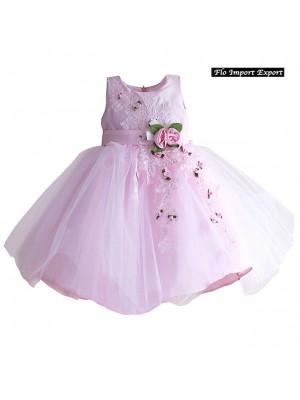 Vestito Bambina Abito Rose Principessa Cerimonia DGZF022