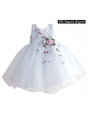 Vestito Bambina Abito Rose Principessa Cerimonia DGZF025