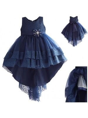Vestito Bambina Abito Cerimonia Asimmetrico DGZF054