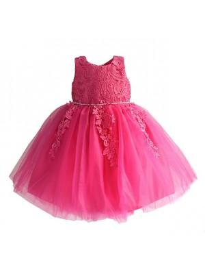 Vestito Bambina Abito Fiori in Pizzo DGZF060