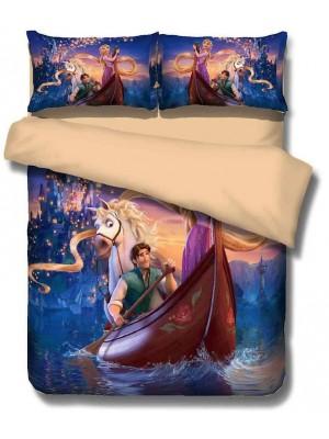 Simile Rapunzel Set Letto Copri Piumone Copripiumino DUVPR03