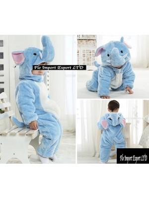 Elefante Costume Carnevale Calda Tuta Pile Imbottita ELEF01
