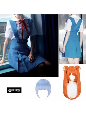 Simil Evangel Uniforme Carnevale Cosplay Rei Uniform Anime Asuka Costume EVANG01
