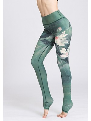 Pantaloni Leggings Yoga Donna con Tallone FITS019