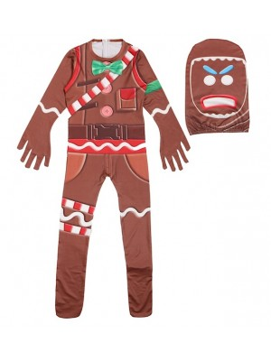 Simile Ginger Bread Costume Carnevale Maschera Cosplay FNITE03