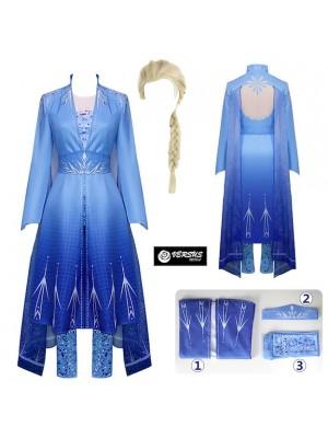 Frozen 2 pz Elsa Vestito Costume Carnevale Donna FROWOM06