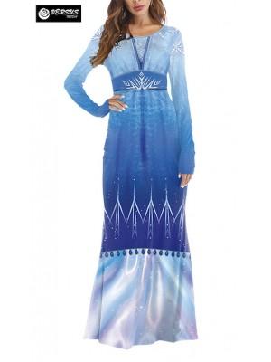 Frozen 2  Elsa Vestito Costume Carnevale Donna FROWOM09
