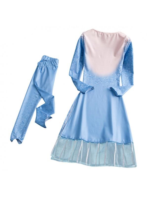 Simil Frozen 2 pz Vestito Carnevale Elsa Cosplay Costume FROZ001