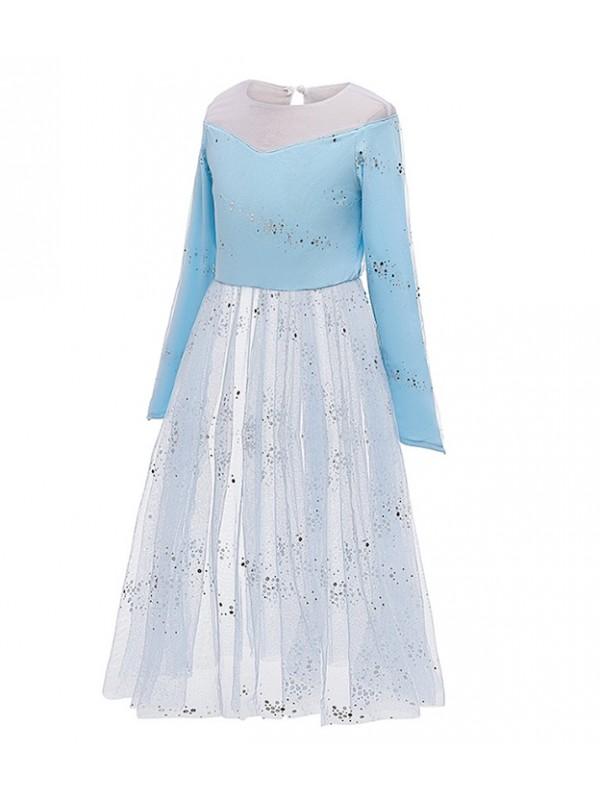 Simil Frozen 2 Vestito Carnevale Elsa Cosplay FROZ008