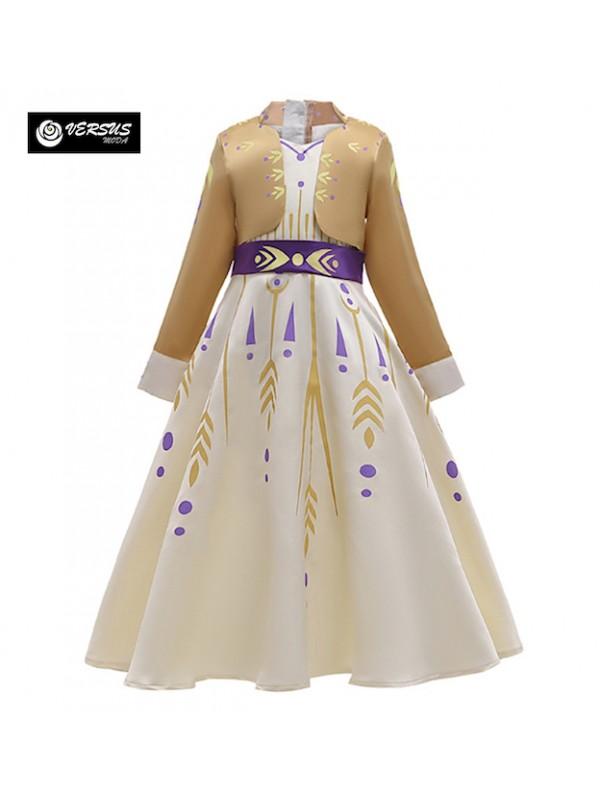 Simil Frozen Anna 2 Vestito Carnevale Cosplay FROZ009