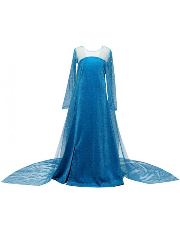 Simil Frozen Vestito Carnevale Elsa Cosplay FROZ010