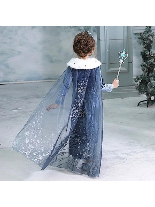 Simil Frozen Olaf Vestito Carnevale Elsa Cosplay FROZ011