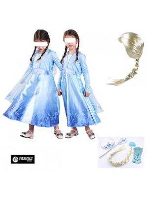 Simil Frozen Vestito Carnevale Elsa Cosplay FROZ014