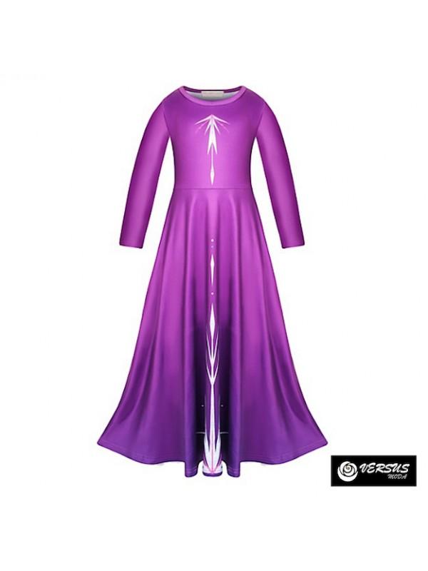 Simil Frozen Vestito Carnevale Elsa Viola FROZ042