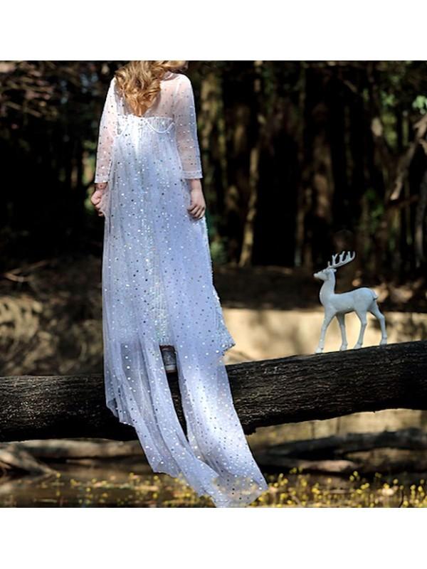Simil Frozen Vestito Carnevale Elsa Bianco FROZ043