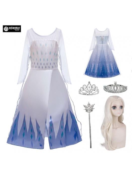 Simil Frozen Vestito Carnevale Elsa Bianco FROZ044