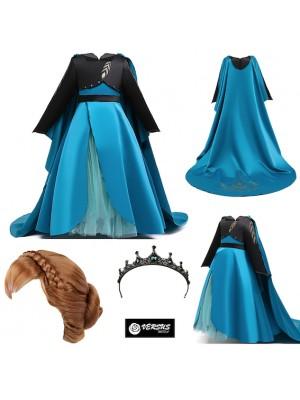 Simil Frozen Regina Anna 2 Vestito Carnevale FROZ051