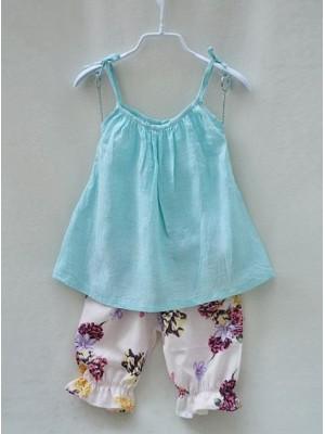 Blusa pantaloni Bimba Cotone Lino Biologico Su Misura 1001-2