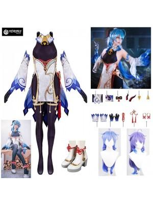 Simil Ganyu Vestito Genshin Carnevale Cosplay Impact Anime Costume GENIMP01