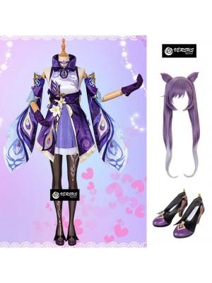 Simil Keqing Vestito Genshin Carnevale Cosplay Impact Anime Costume GENIMP02