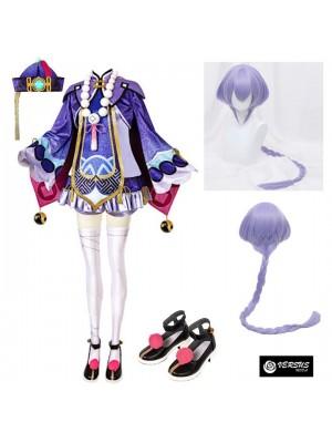 Simil Qiqi Vestito Genshi Carnevale Cosplay Impact Anime Costume GENIMP03