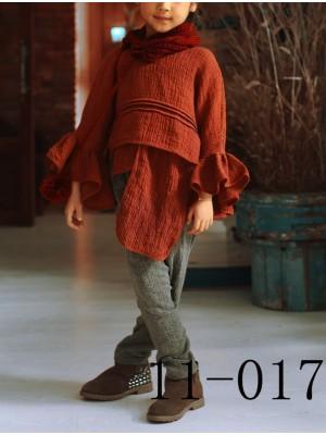 Set Completo Bambina Sciarpa Camicetta e Pantalone GSET11017