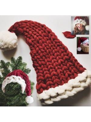 Cappello da Babbo Natale a Maglia Grande HATCH01