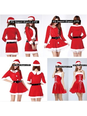 Vestiti Donna Costume Babbo Natale Hostess HOS001-4