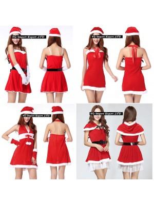 Vestiti Donna Costume Babbo Natale Hostess HOS005-8