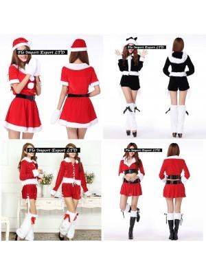 Vestiti Donna Costume Babbo Natale Completi Hostess HOS009-12