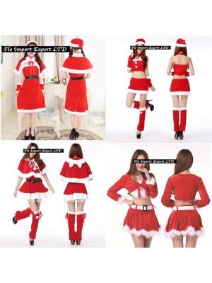 Vestiti Donna Costume Babbo Natale Completi HOS013-16
