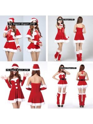 Vestiti Donna Costume Babbo Natale Completi Hostess HOS017-20