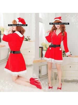 Vestiti Donna Costume Babbo Natale Completi Hostess HOS021