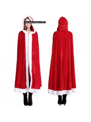 Mantello Donna Costume Babbo Natale HOS035