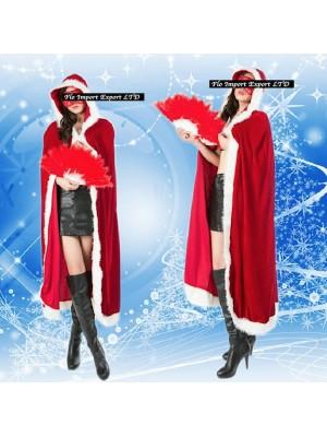 Mantello Donna Costume Babbo Natale HOS036