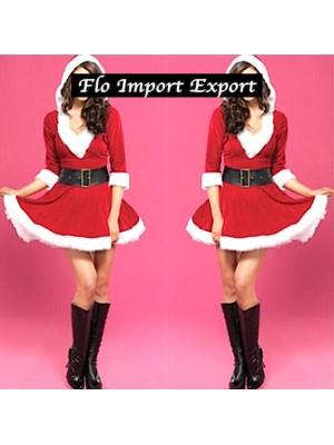 Vestiti Mini Abito Donna Babbo Natale Cosplay Hostess HOS053
