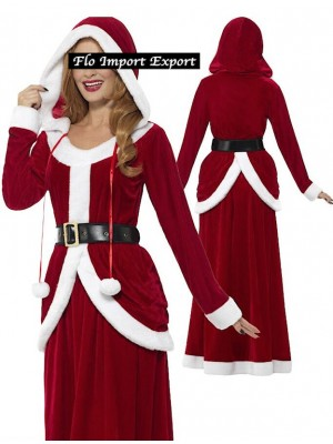 Vestiti Gonna Top Donna Babbo Natale Cosplay Hostess HOS054