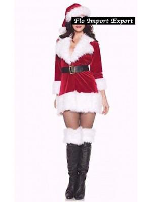 Mini Vestito Natale Donna Babbo Natale Cosplay Hostess HOS055