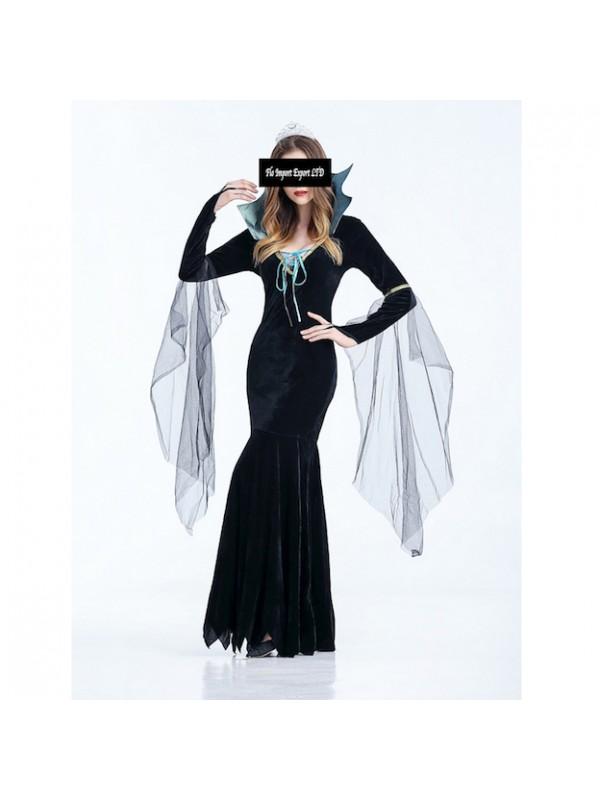 Donna Carnevale Vestito Halloween Hww002 Strega q1wtwz