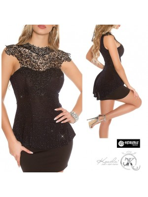 Top Blusa Donna Club Party Feste con Pizzo INS-T2769