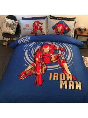 Avengers Ironman Set Copri Piumino Copripiumone Lenzuolo IRMDU01