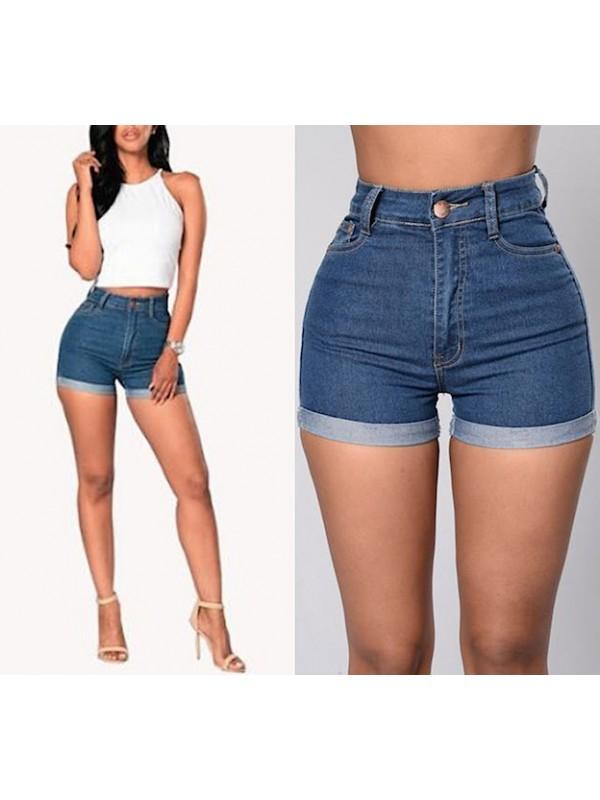3f80504c7f263d Pantaloncini Jeans Vita Alta JEA010