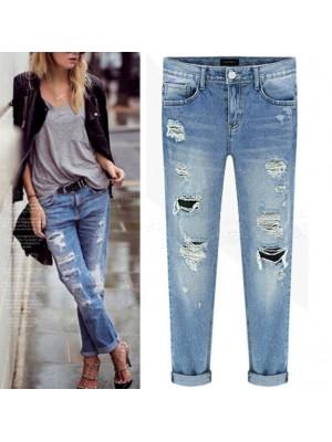 Jeans Pantaloni Donna Strappati JEA014